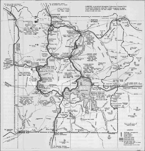 Yellowstone NP Guidebook 1940