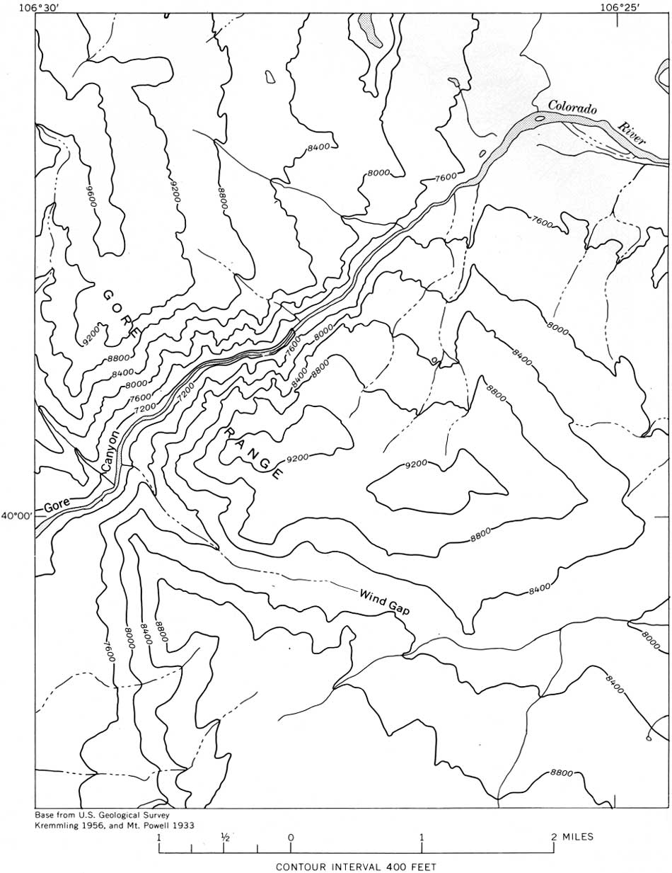 Topographic Map Grand Canyon.Usgs Geological Survey Professional Paper 669 C