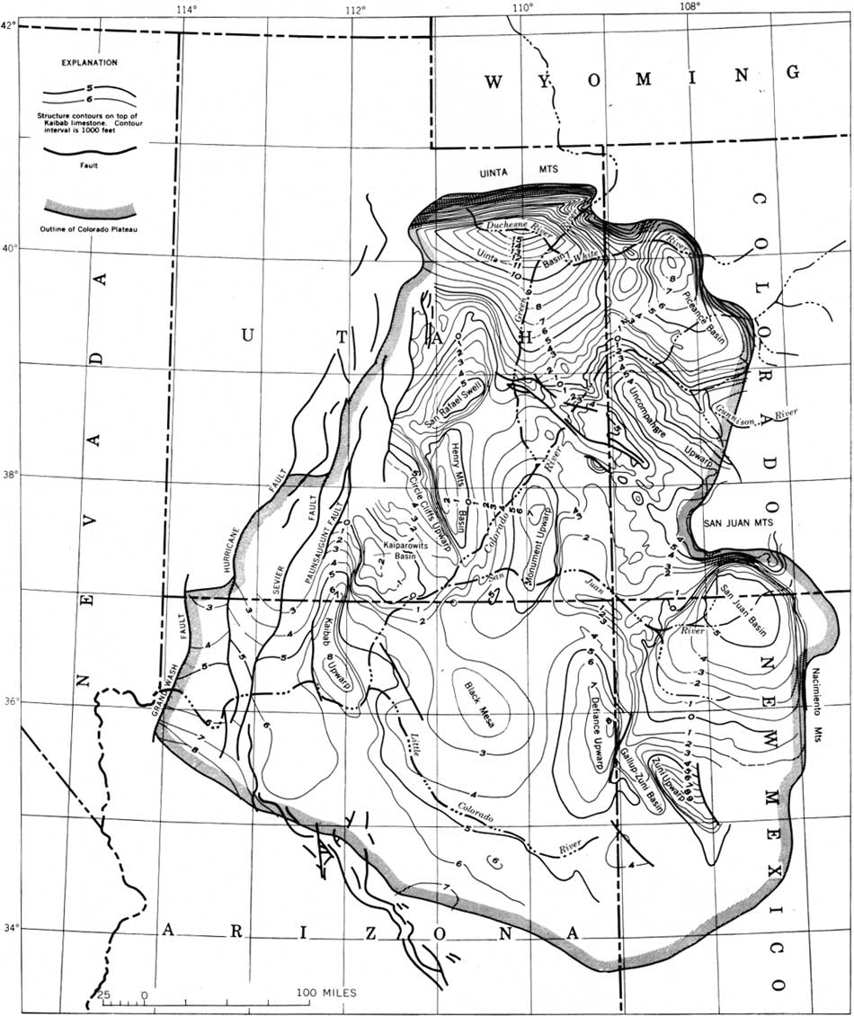 USGS Geological Survey Professional Paper C - Map of colorado plateau region