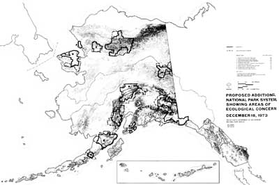 map of proposed NPS additions in Alaska