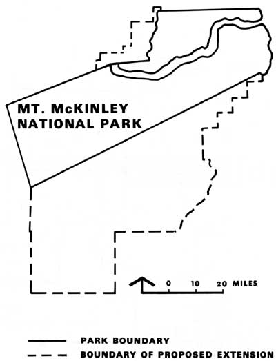 map of Mt. McKinley NP,