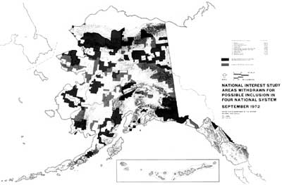 map of withdrawls in Alaska, 1972