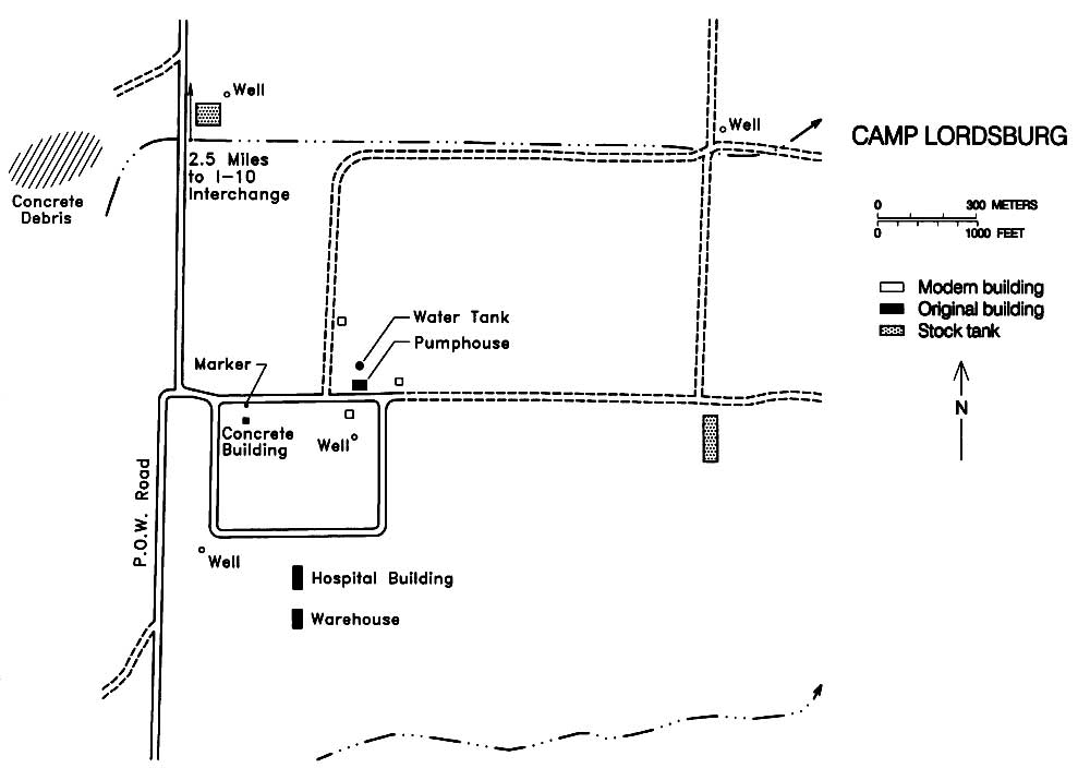 Map Of Lordsburg Internment Camp